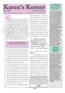 thumbnail of Newsletter July 2003