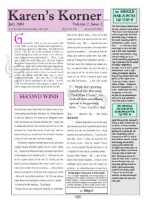 thumbnail of Newsletter July 2003