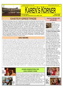 thumbnail of Newsletter March 2009